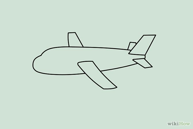 Easy plane clipart png library Airplane Drawing | Free Download Clip Art | Free Clip Art | on ... png library