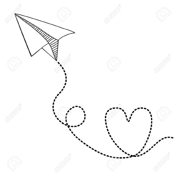 Easy plane clipart clipart library library Paper Plane Drawing Tumblr Paper airplanes drawings paper | Motto ... clipart library library