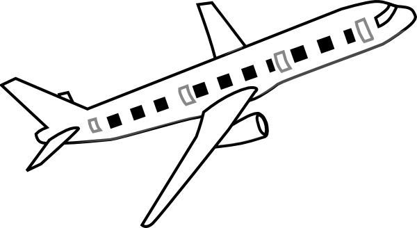 Easy plane clipart banner black and white download Easy plane clipart - ClipartFox banner black and white download