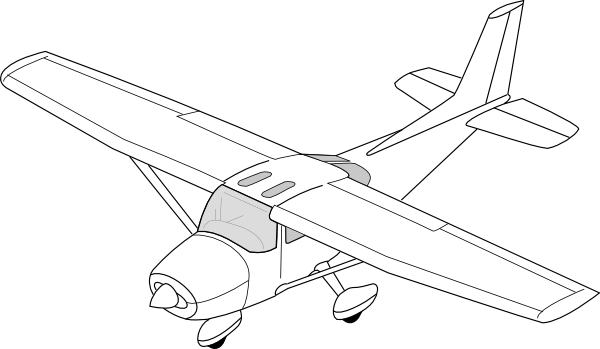 Easy plane clipart picture royalty free stock Plane Clip Art at Clker.com - vector clip art online, royalty free ... picture royalty free stock