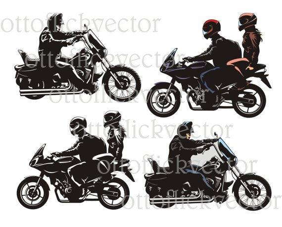 Easy rider clipart image free download MOTORCYCLE BIKE RIDER vector clipart eps, ai, cdr, png, jpg, b&w ... image free download