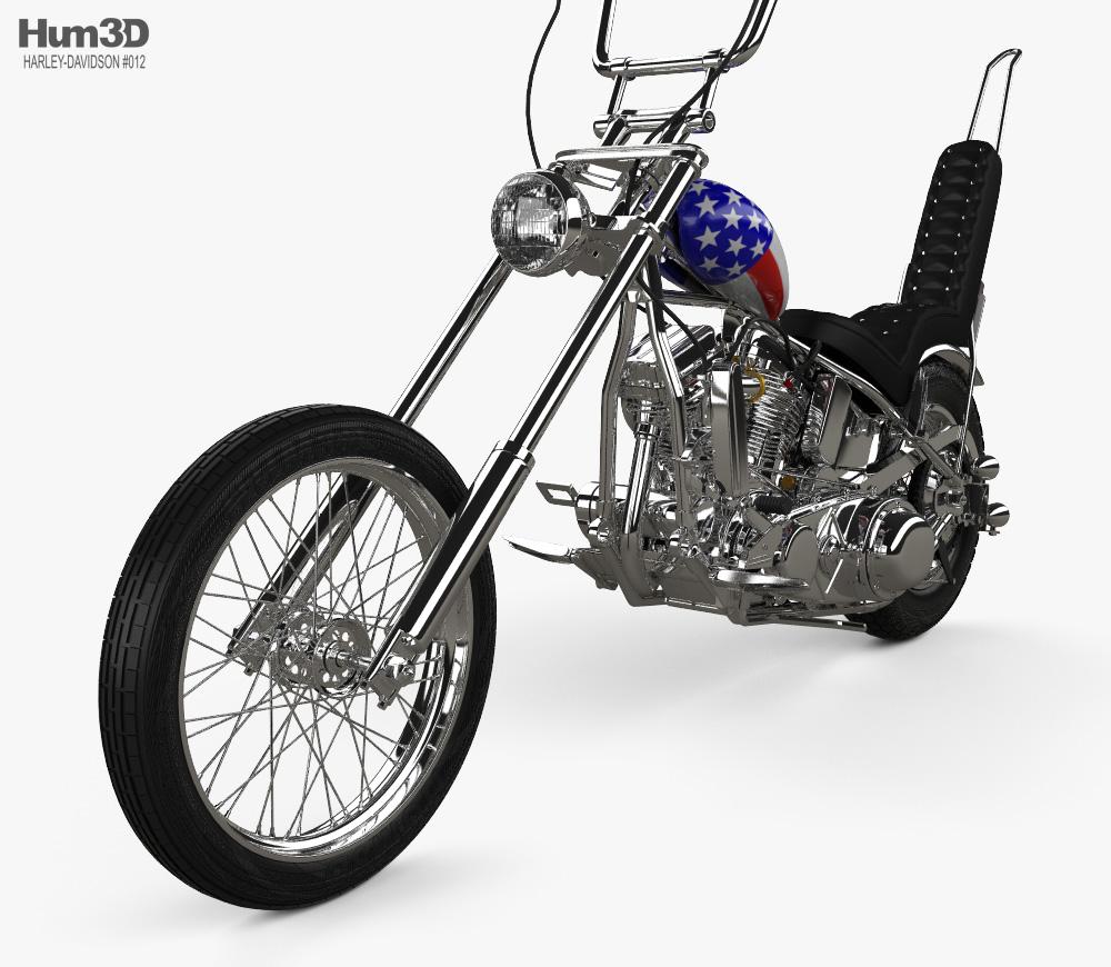 Easy rider clipart clipart stock Harley-Davidson Easy Rider Captain America 1969 3D model clipart stock