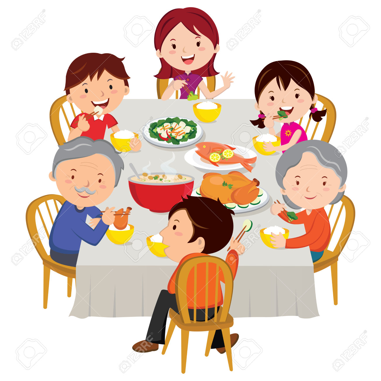 Family dinner clipart free picture freeuse stock Family Dinner Clipart   Free download best Family Dinner Clipart on ... picture freeuse stock