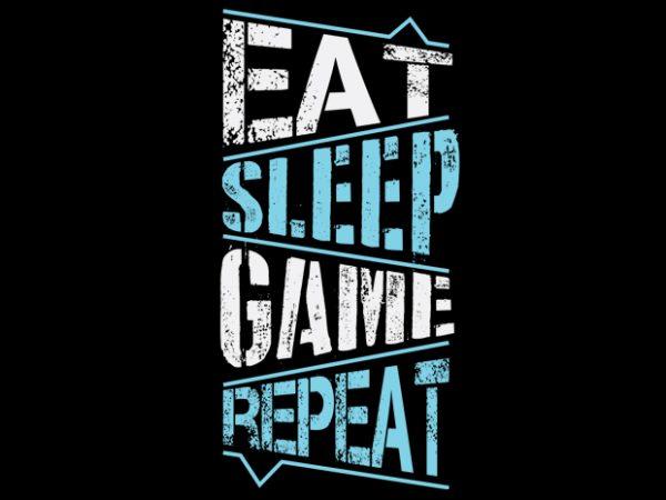 Eat sleep clipart jpg black and white stock Eat Sleep Game Repeat vector clipart jpg black and white stock