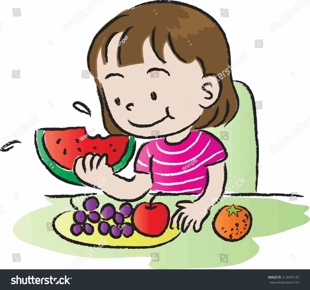 Eating fruits and vegetables clipart black and white clip art library Eating fruits and vegetables stationrhclipartstationcom eating ... clip art library