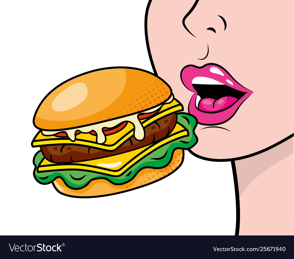 Eating hamburger clipart picture download Face profile eating hamburger picture download