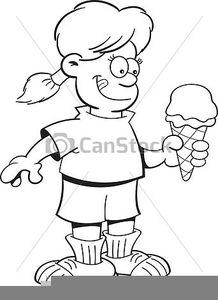 Eating ice cream clipart black and white vector download Girl Eating Ice Cream Clipart | Free Images at Clker.com - vector ... vector download