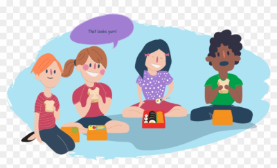 Eating lunch with friends clipart picture black and white download Download Free png Eating, food, lunch, man, people, person ... picture black and white download