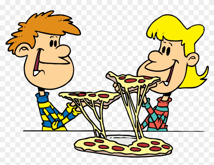 Some one eatingpizza clipart banner free library Pizza Order Deadline - Friends Eating Pizza Clipart, HD Png Download ... banner free library