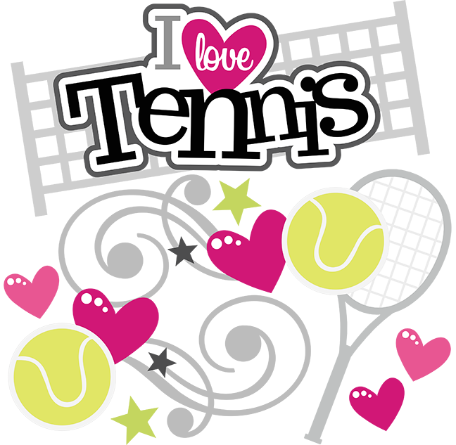 Ecg with baseball player vector clipart free picture freeuse download I Love Tennis - SVG Scrapbooking Files | Cuttable Scrapbook SVG ... picture freeuse download
