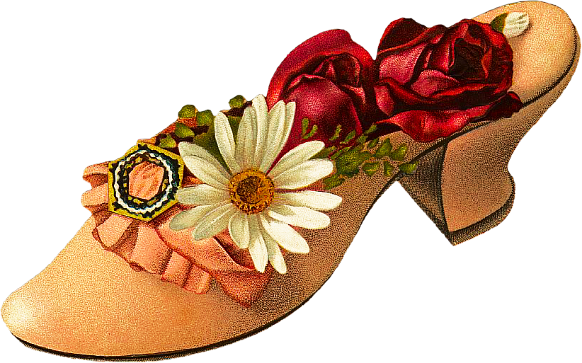 Eclectic thanksgiving clipart free library Free Victorian Shoe Clipart free library