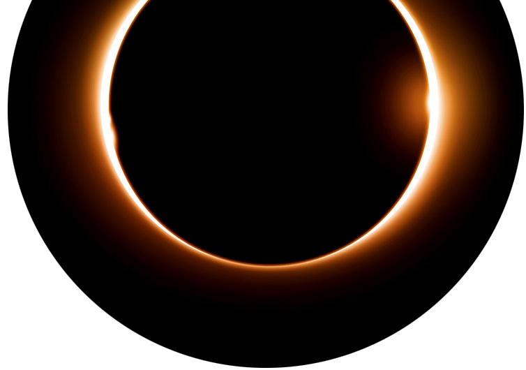 Free clipart total eclipse of the sun jpg black and white library COSI - eclipse jpg black and white library