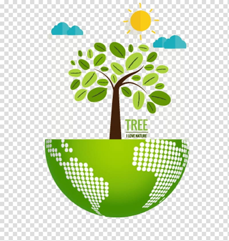 Ecological clipart svg royalty free stock Nature Environmentally friendly Ecology Illustration, Green ... svg royalty free stock
