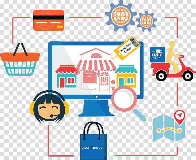 Ecommerce clipart image black and white Web development E-commerce Online shopping Business Software ... image black and white