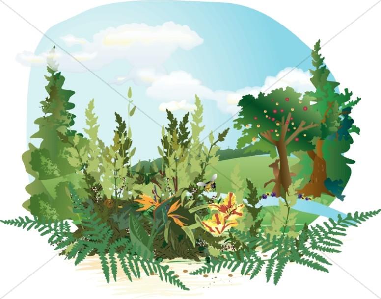 Word garden clipart banner Garden of Eden Clipart | Adam and Eve Clipart banner