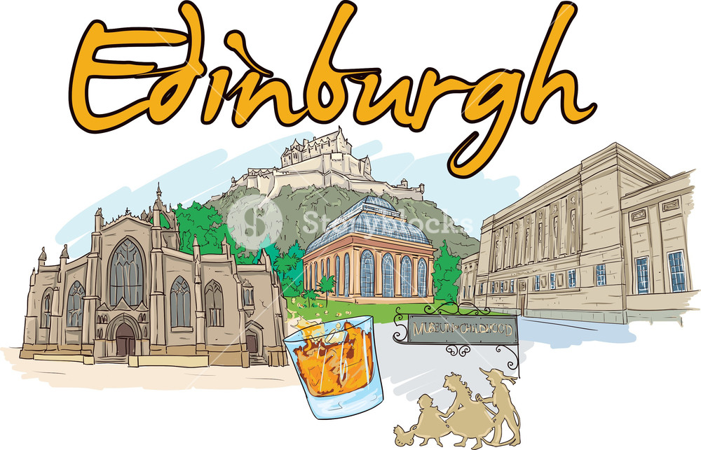 Edinburgh clipart freeuse stock Edinburgh Vector Doodle Royalty-Free Stock Image - Storyblocks Images freeuse stock