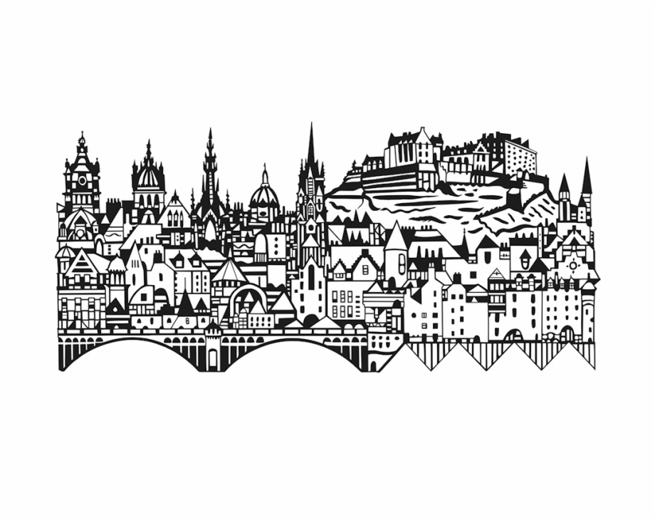 Edinburgh clipart clip art royalty free Jpg Royalty Free Library Drawing City Outline - Edinburgh Black And ... clip art royalty free