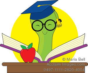 Educated clipart svg royalty free download Clip Art Illustration of an Educated Bookworm at School Reading a Book svg royalty free download