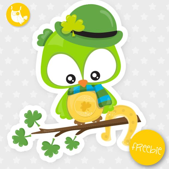 Educational clipart for commercial use image royalty free library St-Patrick owl Freebie, free clipart, freebie, commercial use ... image royalty free library