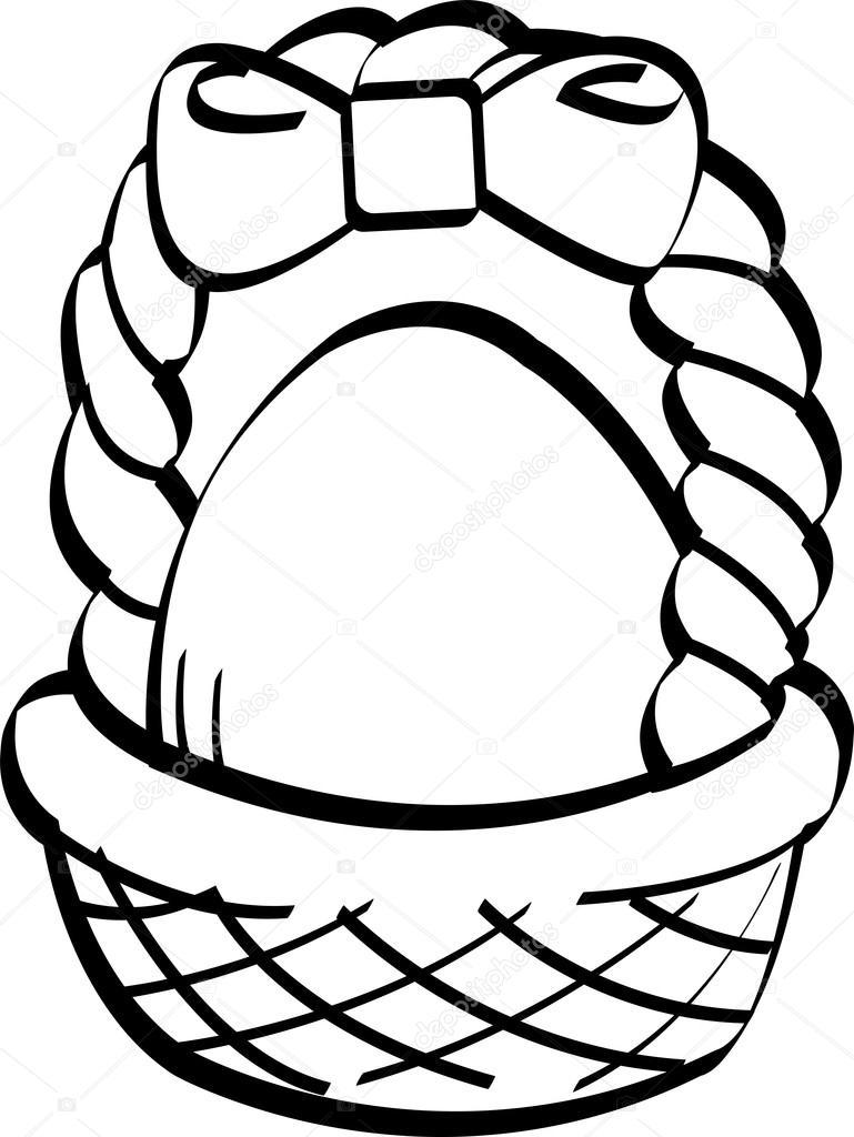 Egg basket clipart transparent download Easter egg basket clip art — Stock Vector © ClipArtGuy #17826961 transparent download