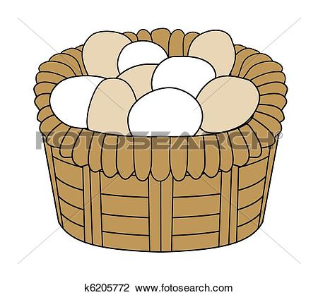 Egg basket clipart black and white Clipart of free range eggs k9681255 - Search Clip Art ... black and white