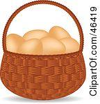 Egg basket clipart clip art black and white Wire Egg Basket Clipart clip art black and white