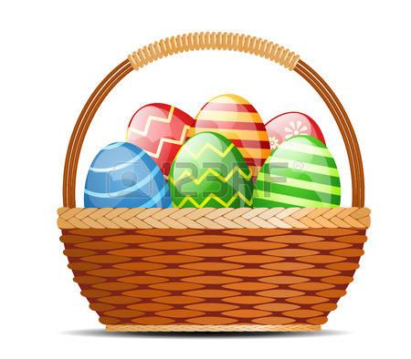 Egg basket clipart svg freeuse 12,932 Egg Basket Stock Vector Illustration And Royalty Free Egg ... svg freeuse