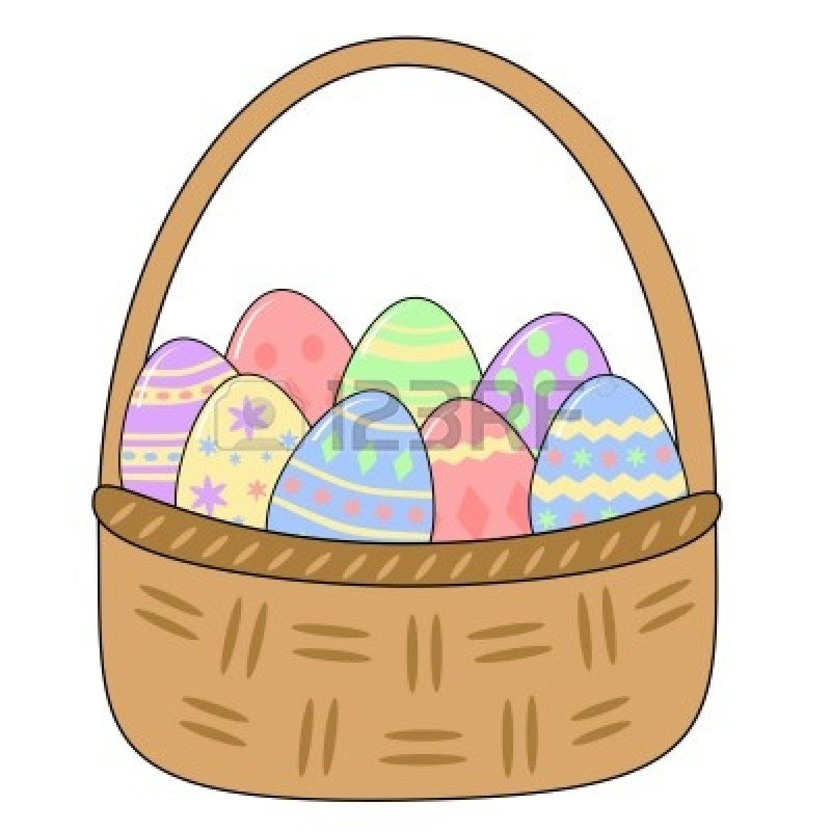 Egg basket clipart jpg royalty free Easter egg basket clipart - ClipartFest jpg royalty free