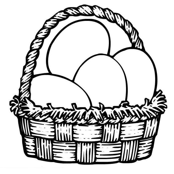 Egg basket clipart graphic royalty free Egg basket clipart - ClipartFest graphic royalty free