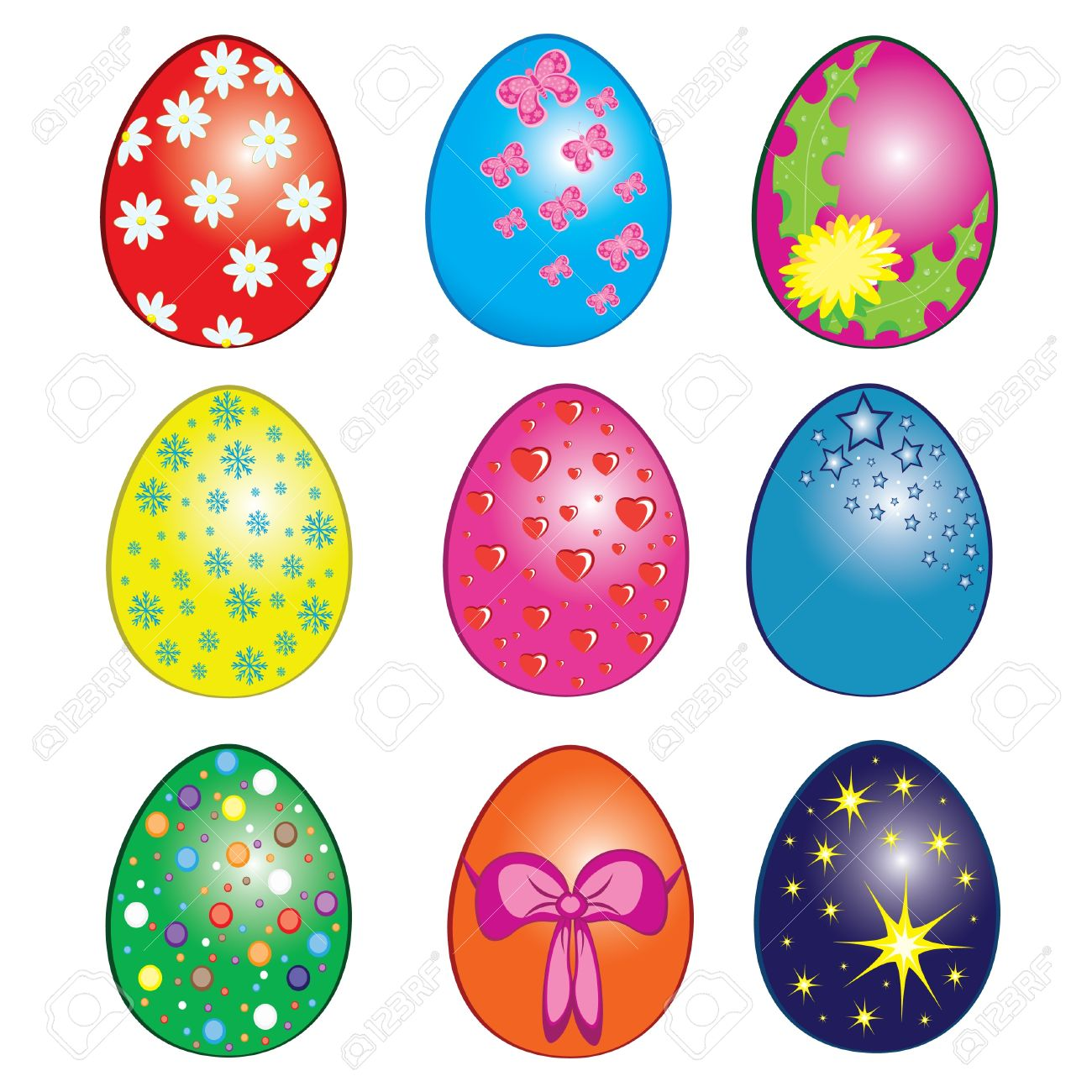 Egg easter clipart svg freeuse download Easter eggs with numbers clipart - ClipartFest svg freeuse download