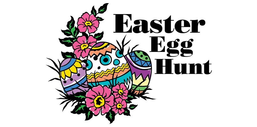 Easter Egg Hunt Clip Art - Clipartspin picture black and white