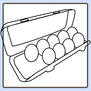 Eggs black and white clipart graphic transparent Eggs Filling an Egg Carton One Dozen Eggs Black And White Clip Art graphic transparent