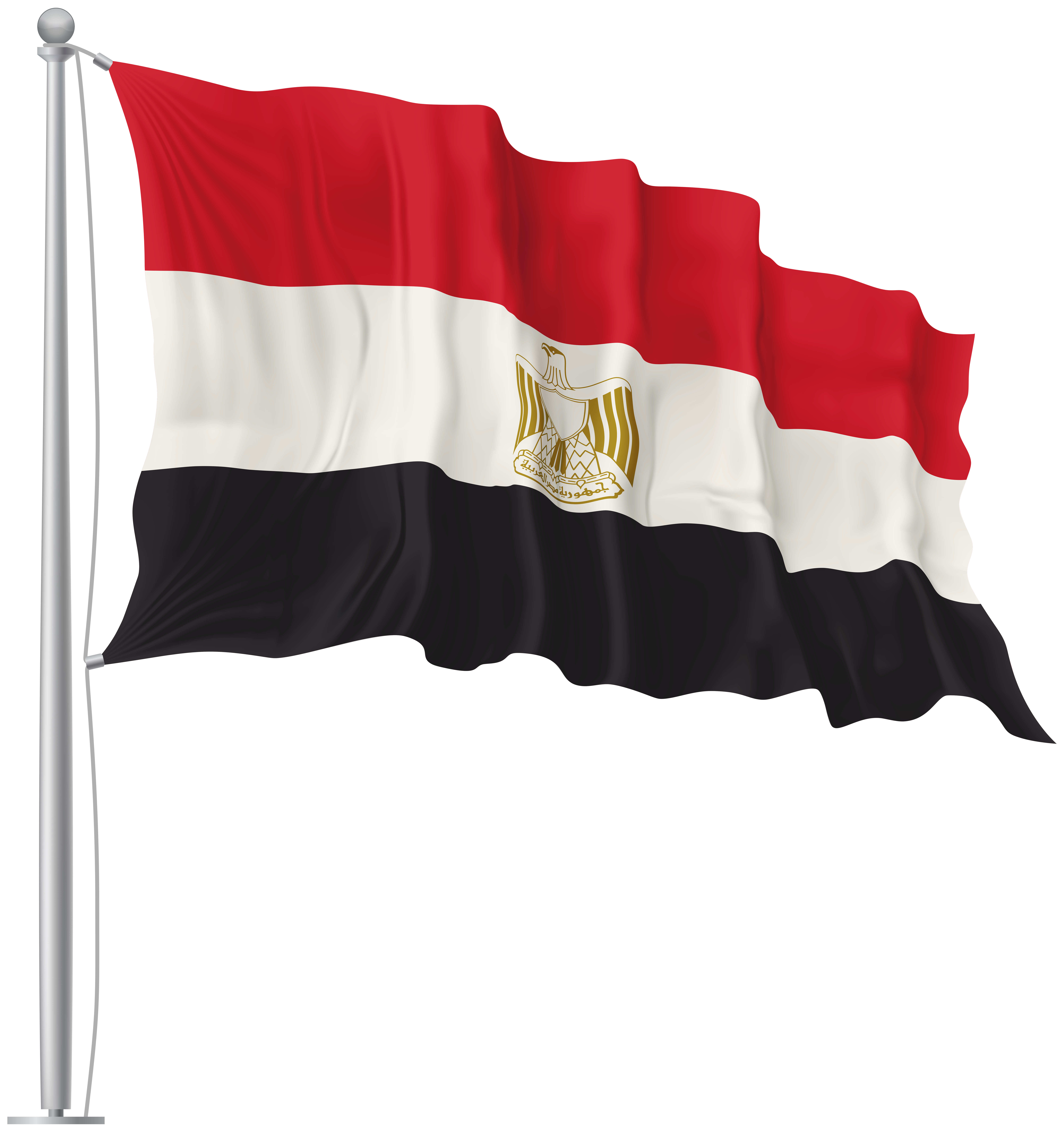 Egypt flag clipart graphic royalty free library Egypt Waving Flag PNG Image   Gallery Yopriceville - High-Quality ... graphic royalty free library