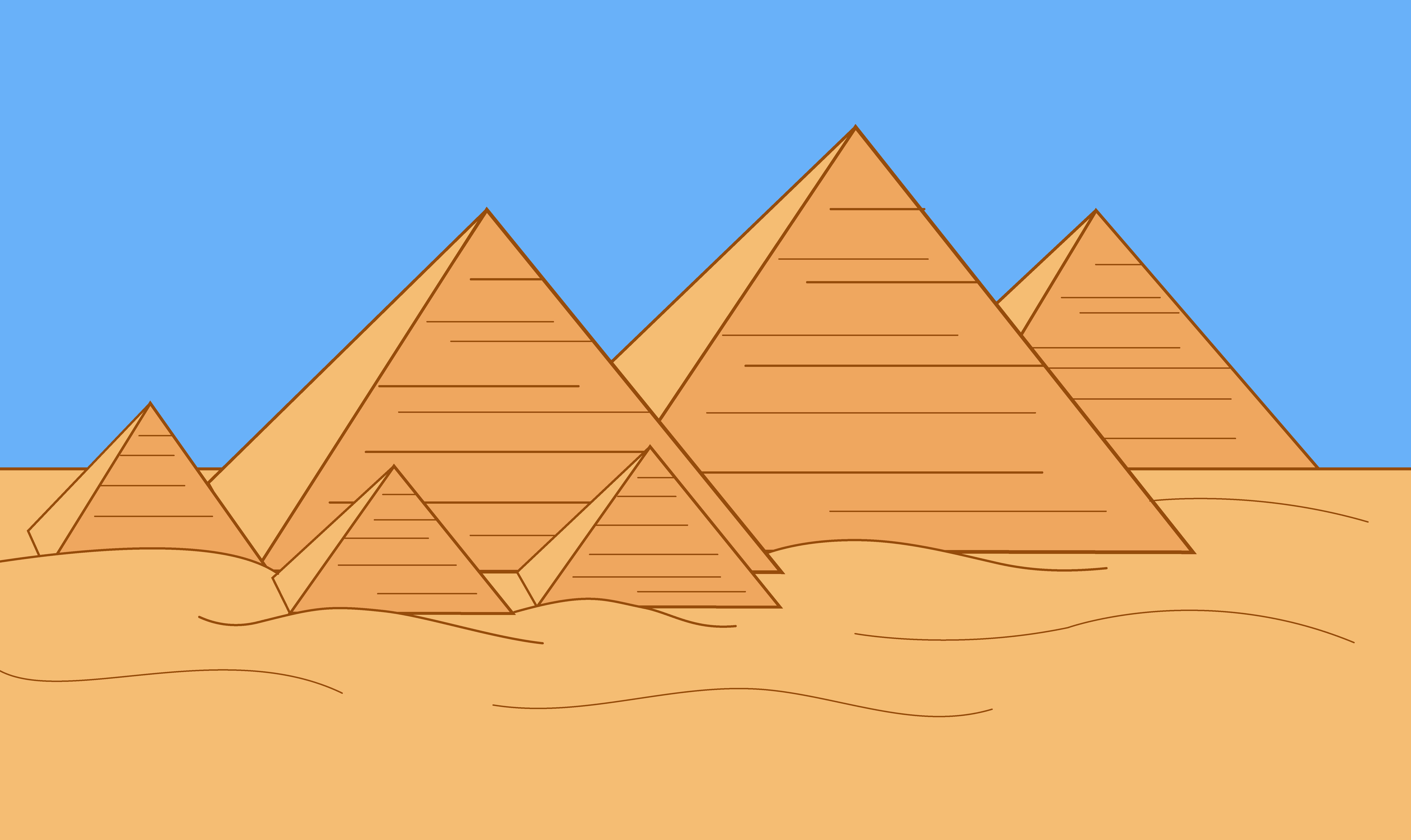 Egypt pyramid clipart royalty free stock Egyptian Pyramids of Giza - Free Clip Art royalty free stock