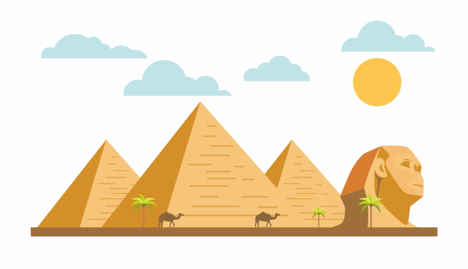 Egypt pyramid clipart png black and white download Great Sphinx Of Giza Egyptian Pyramids Great Pyramid - Cartoon ... png black and white download