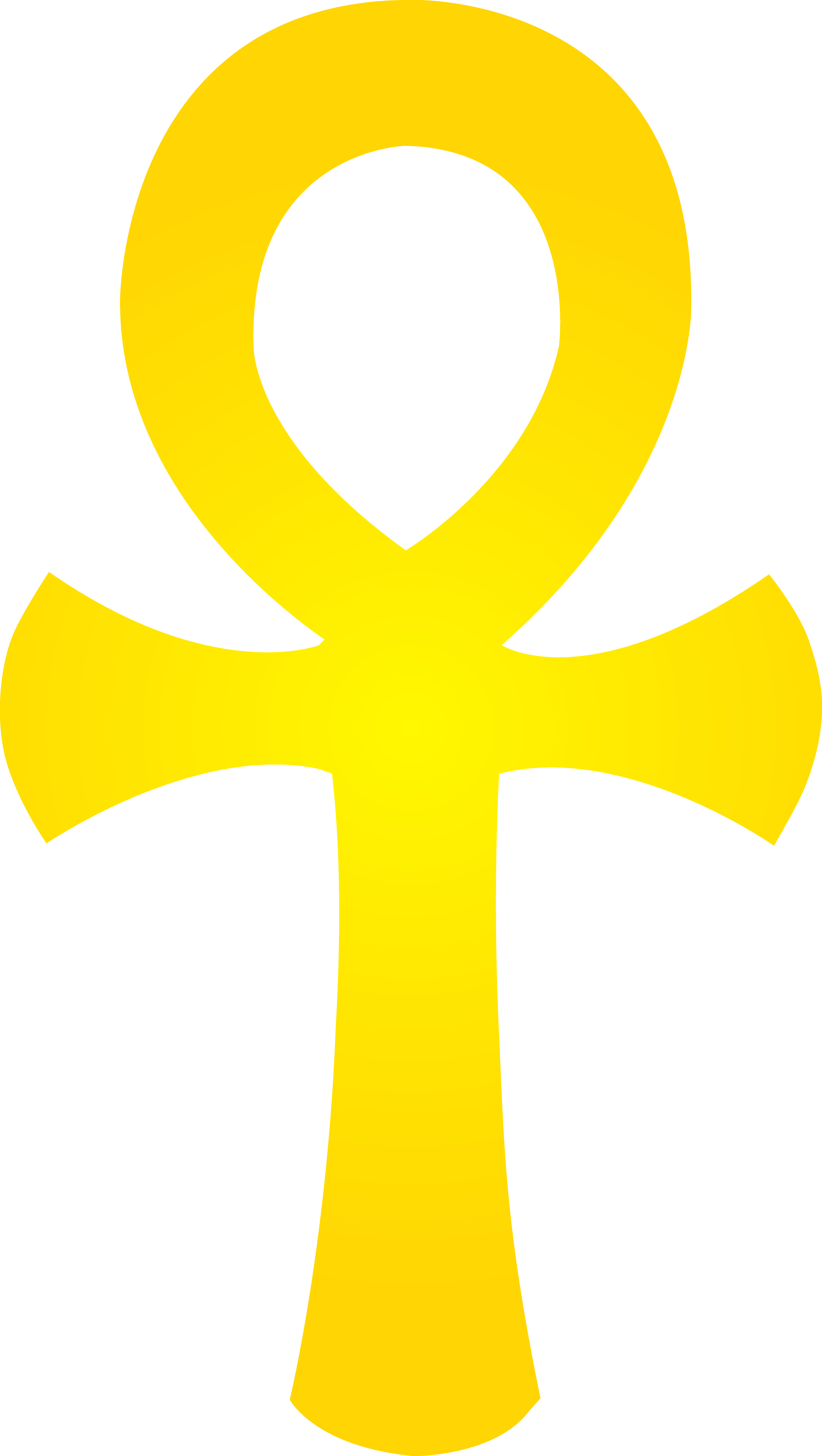 Egypt sun clipart graphic freeuse stock Golden Egyptian Ankh Symbol - Free Clip Art graphic freeuse stock