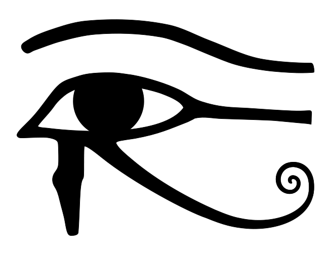 Egypt sun clipart clip black and white Secrets Of The Third Eye, The Eye Of Horus, Beyond The Illuminati ... clip black and white