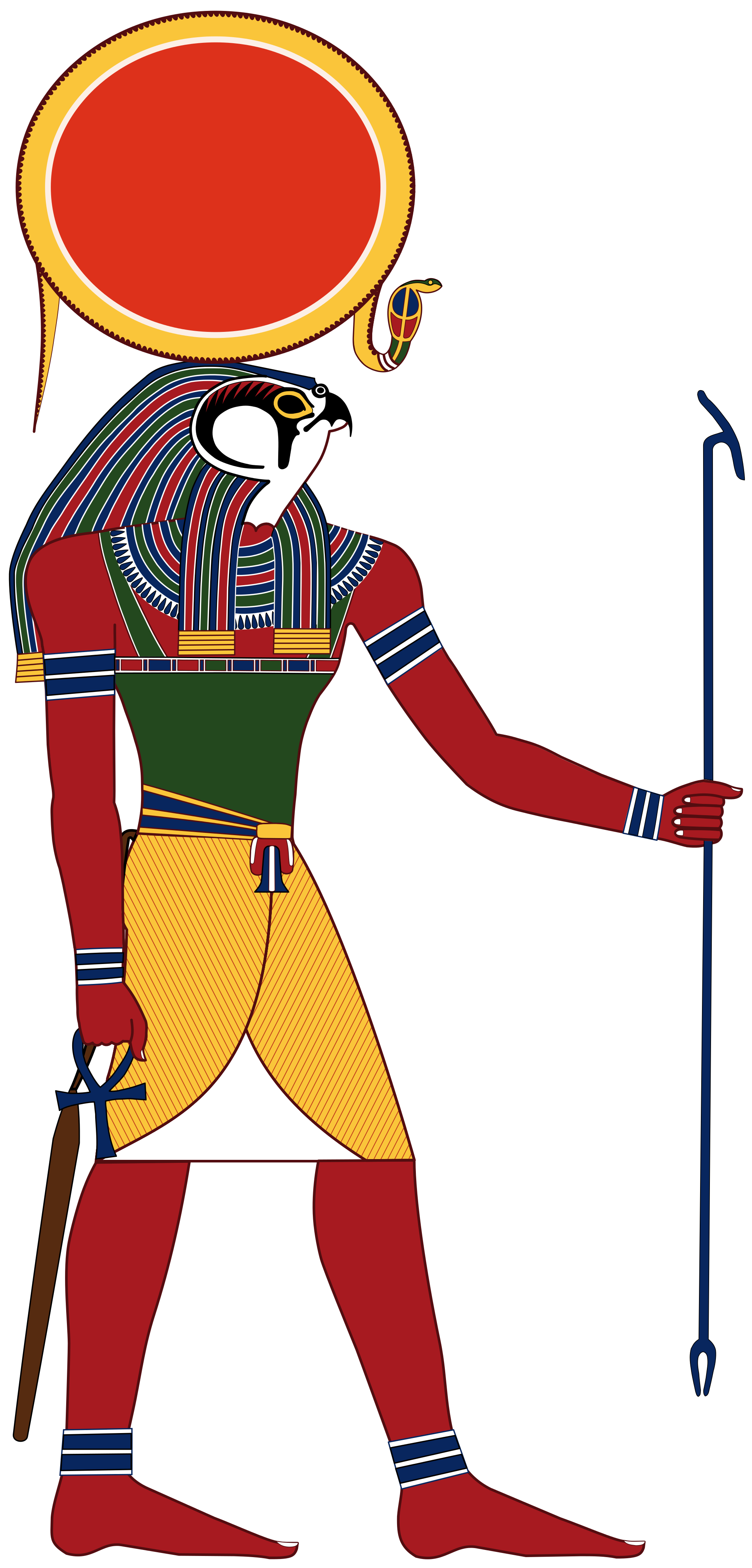 Egyptian sun clipart picture black and white stock Ra, one of the central deities in Egyptian religion. The deity is ... picture black and white stock