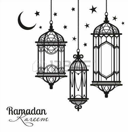 Eid clipart black and white jpg royalty free Paper Lantern clipart black and white #13 | EID decorations | Paper ... jpg royalty free