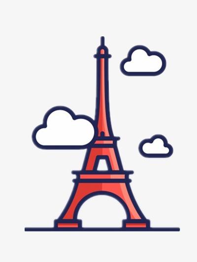 Eiffel tower cartoon clipart