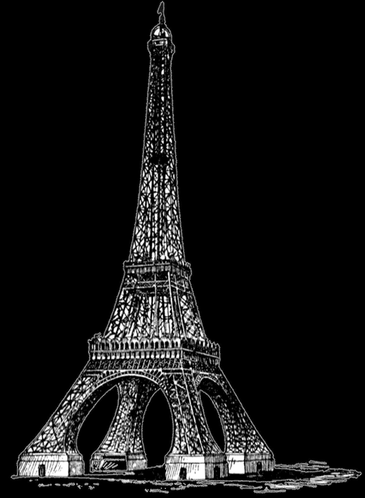 Transparent eiffel tower clipart jpg black and white Eiffel Tower Bw Full Vintage transparent PNG - StickPNG jpg black and white