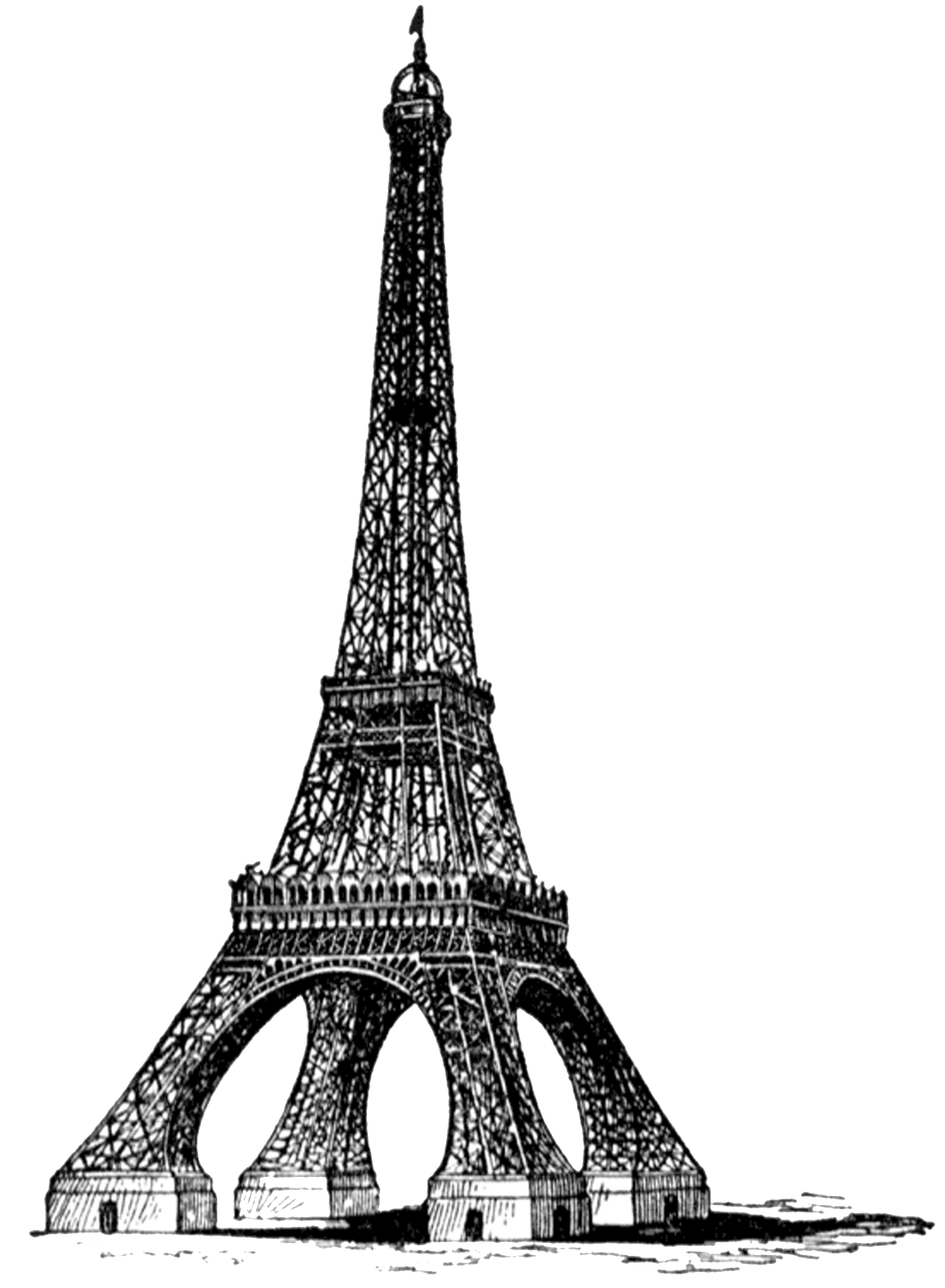Eiffel tower heart clipart vector royalty free stock Kari Robles **FREE ViNTaGE DiGiTaL STaMPS**: Eiffel Tower (this gal ... vector royalty free stock