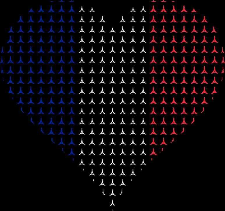 Eiffel tower heart clipart jpg library stock Clipart - Heart France Flag Eiffel Tower jpg library stock