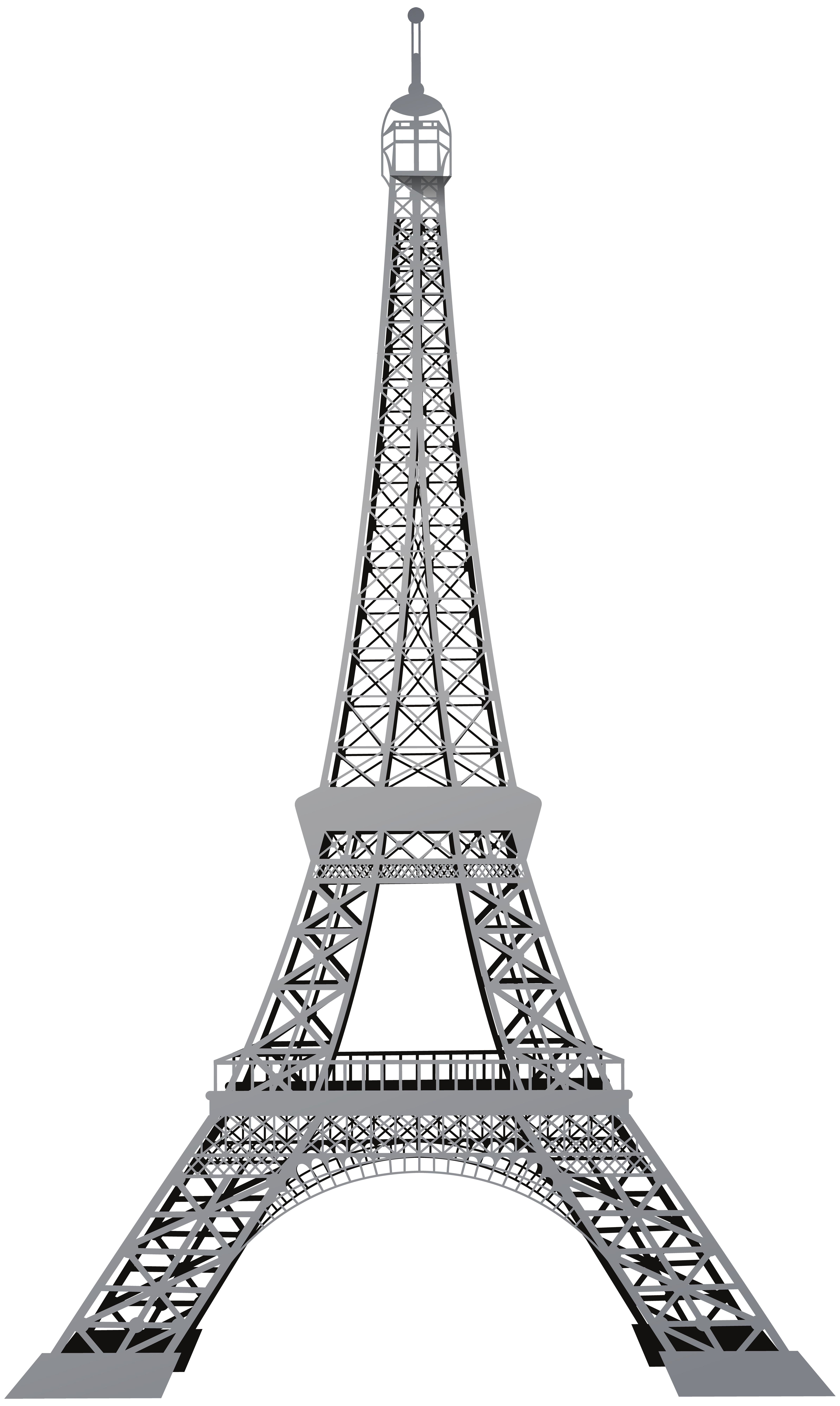 Eiffel tower heart clipart clip black and white stock Eiffel Tower PNG Clip Art - Best WEB Clipart clip black and white stock