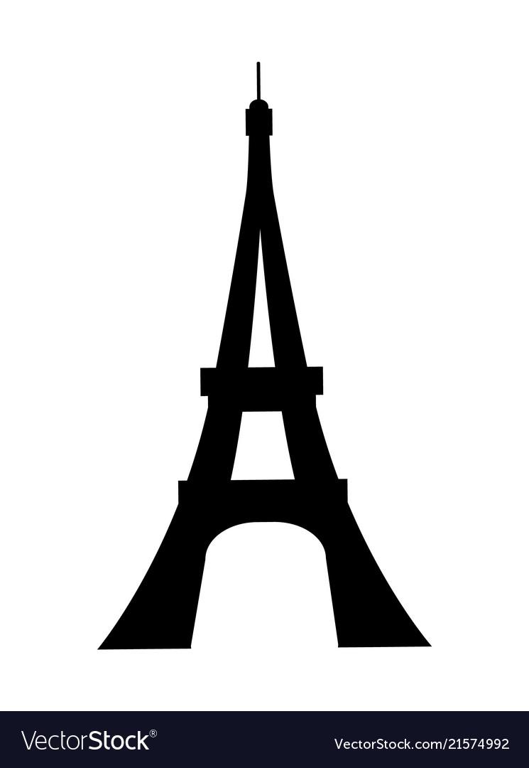 Eiffel tower silhouette clipart banner Eiffel tower france silhouette banner
