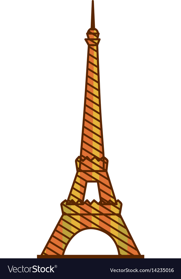 Eiffel tower silhouette clipart svg freeuse library Color silhouette of eiffel tower with background svg freeuse library