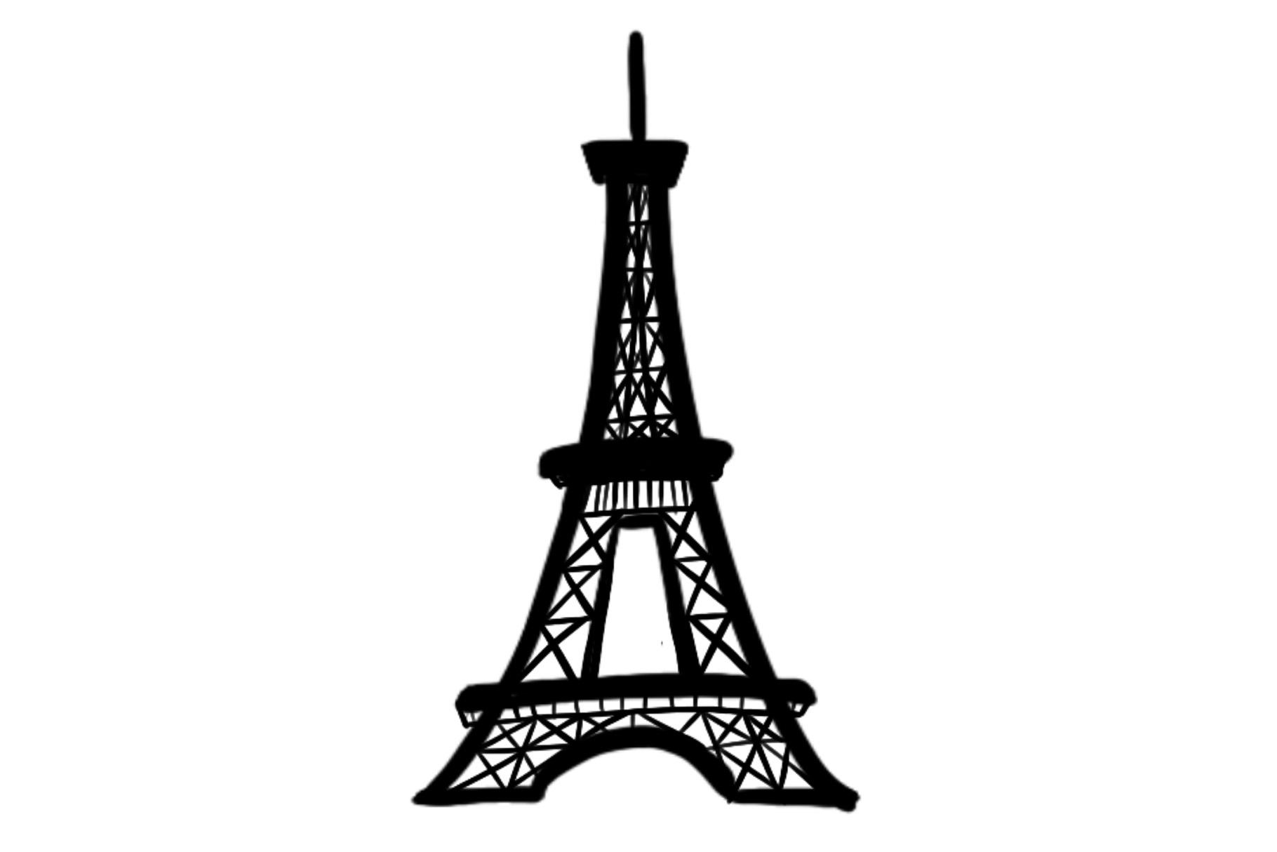 Eiffel tower silhouette clipart clipart royalty free Eiffel Tower Silhouette clipart royalty free