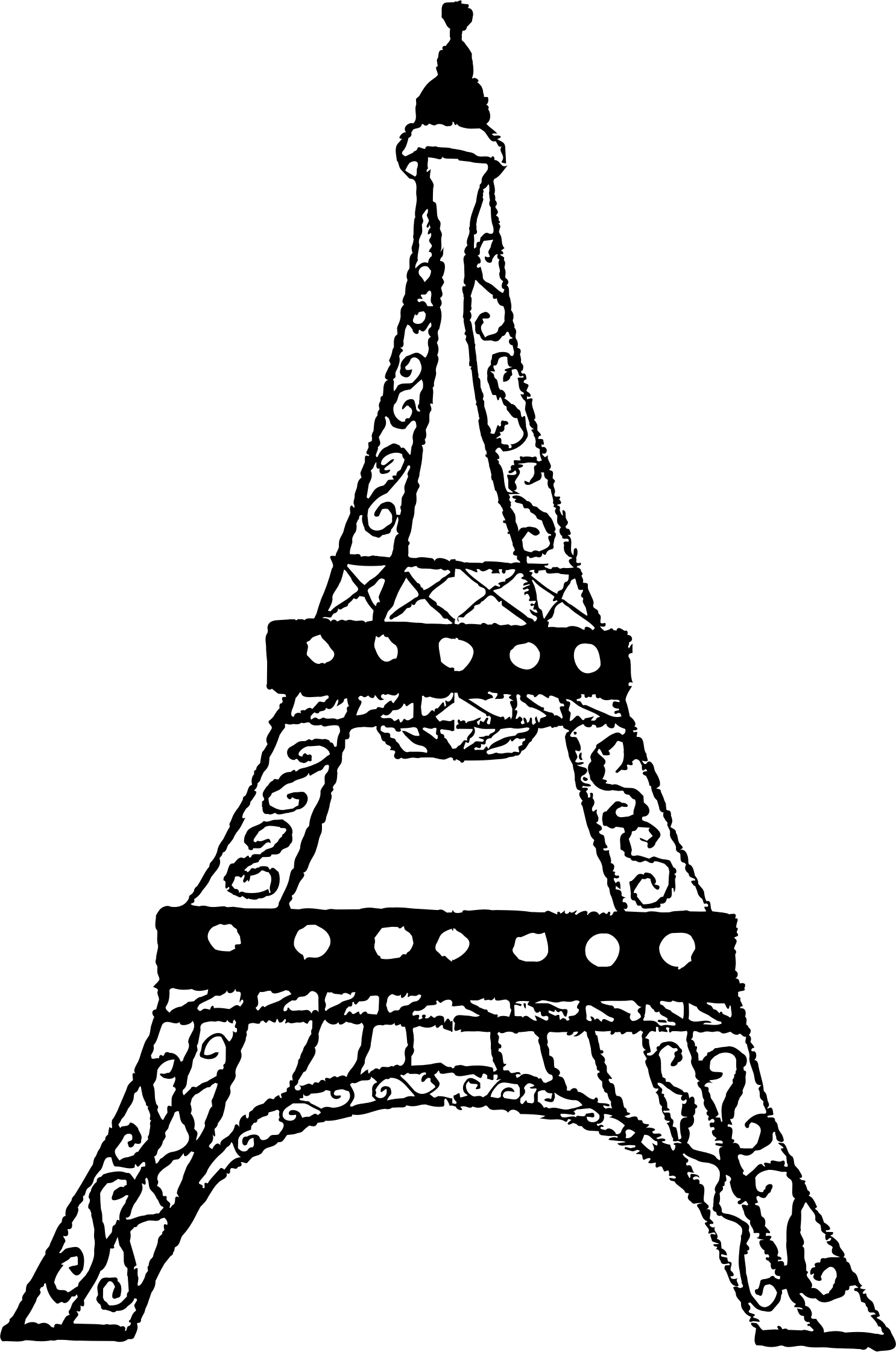 Eiffel tower with crown clipart clip Eiffel Tower Drawing Steps at GetDrawings.com   Free for personal ... clip
