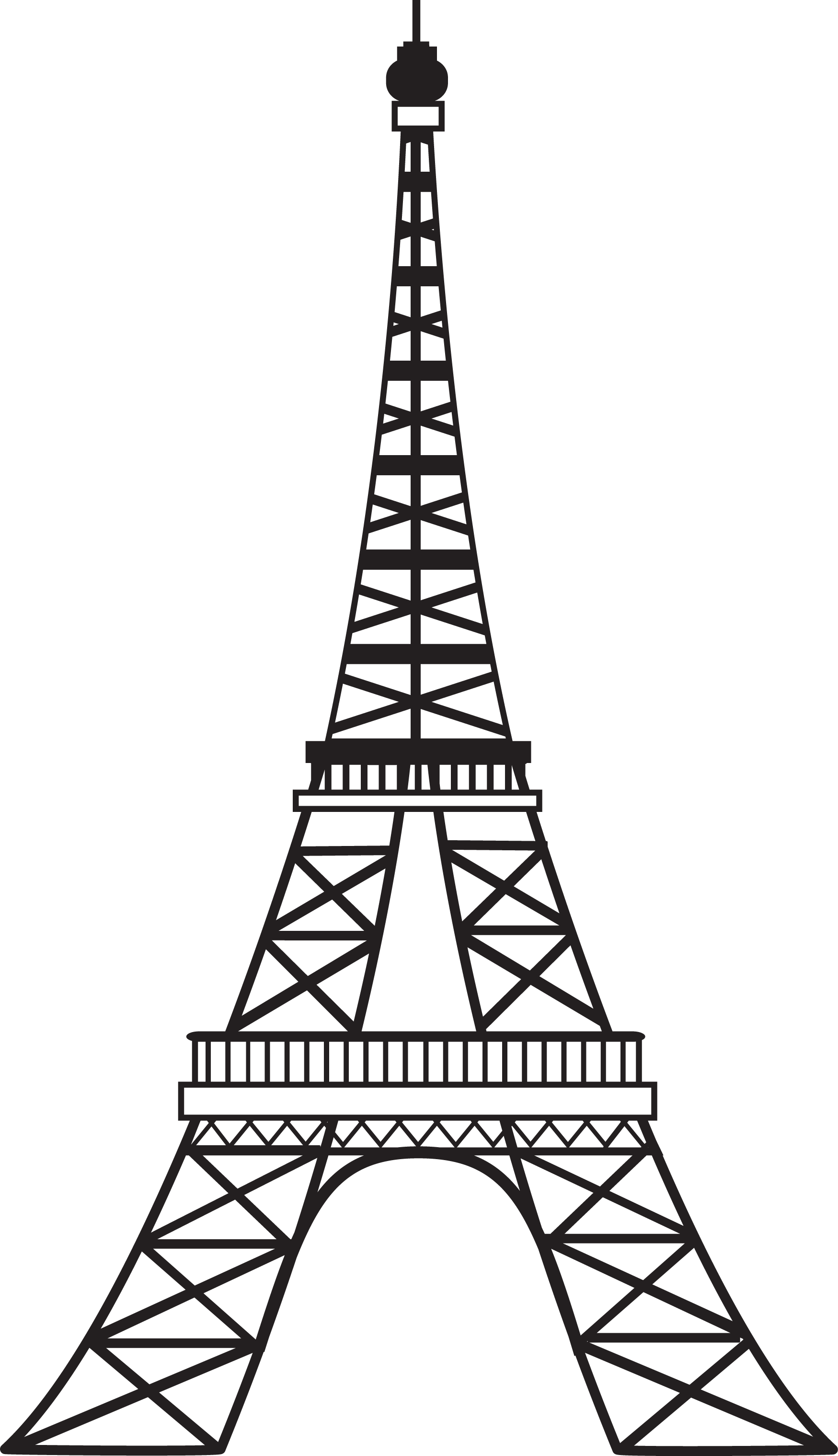 Eiffel tower with crown clipart jpg royalty free 28+ Collection of Eiffel Tower Drawing Images   High quality, free ... jpg royalty free