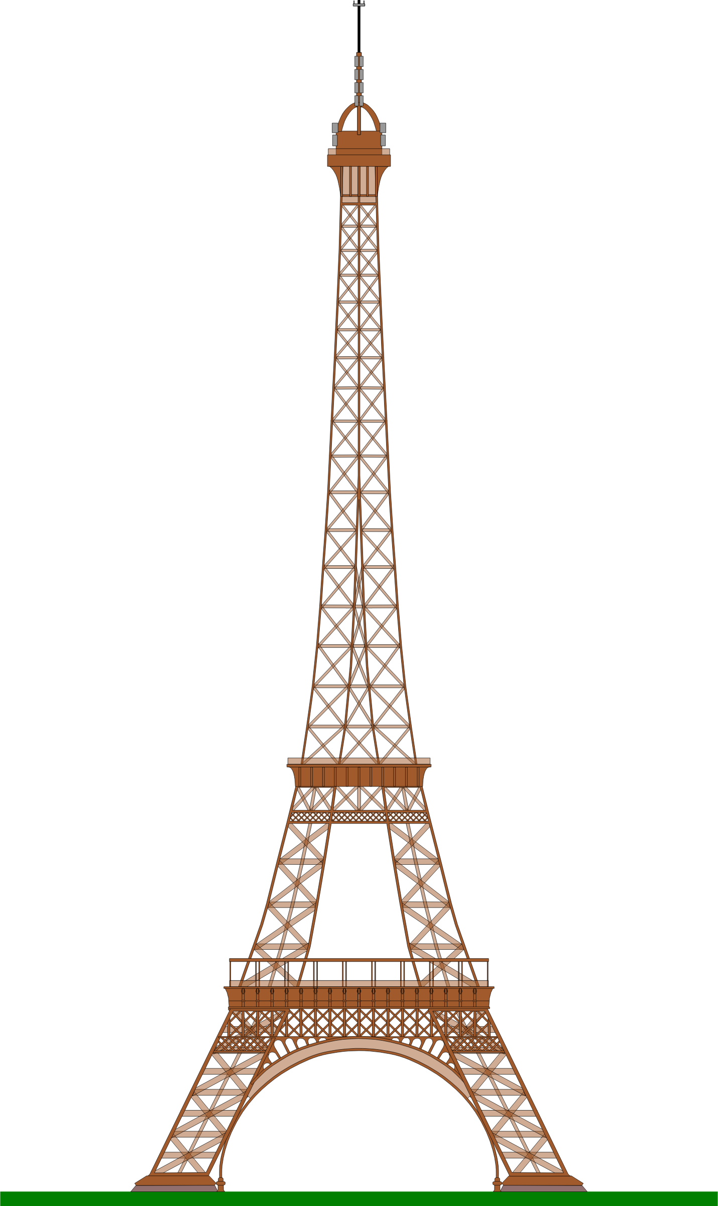 Eiffel tower with crown clipart clip art royalty free download Eiffel Tower (Paris) by @ajaborsk, A side view of the famous Paris ... clip art royalty free download